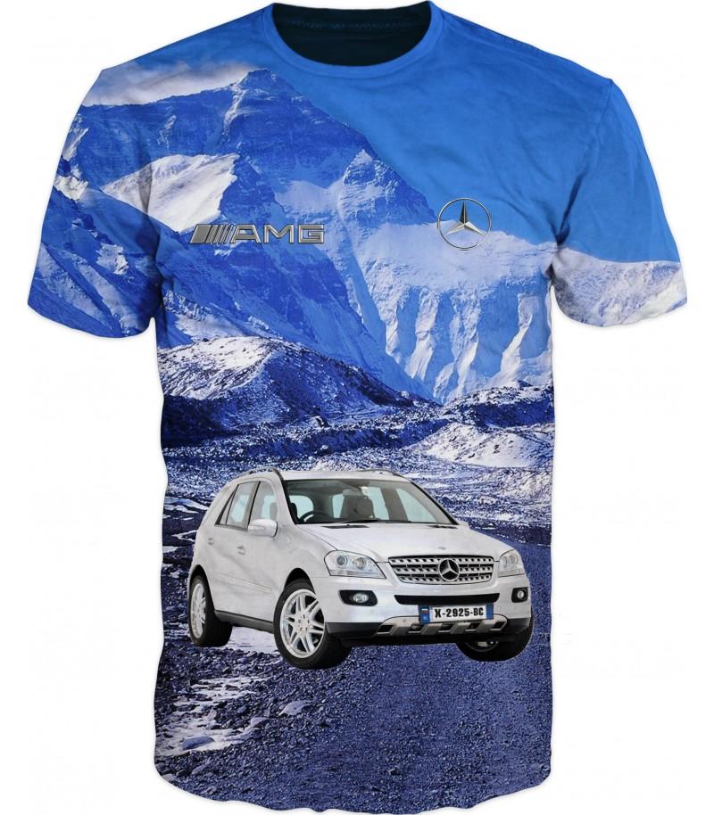 Мъжка тениска с мерцедес на Еверест