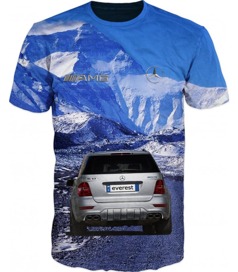 Мъжка тениска с мерцедес-ML