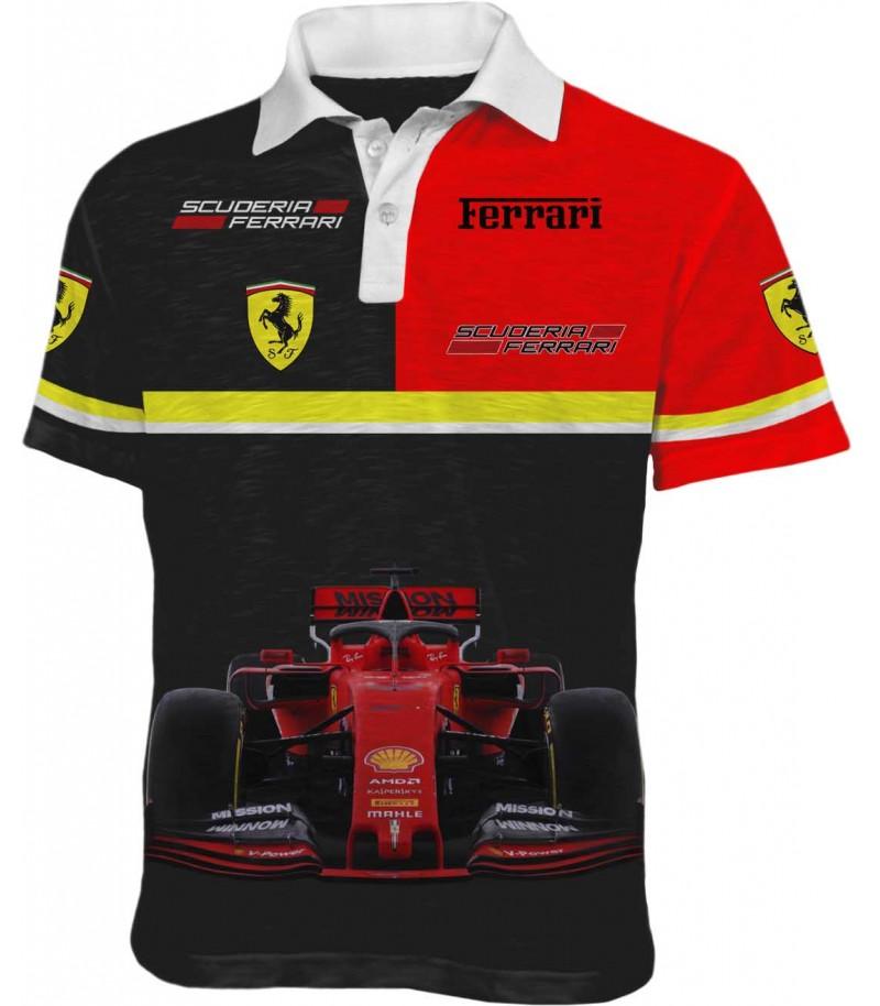 Автомобилна тениска на Ферари - състезателна кола