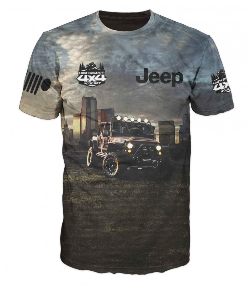 Тениска с джип JEEP