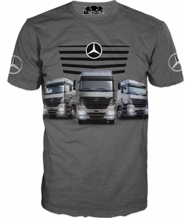 Тениска с камиони на Мерцедес