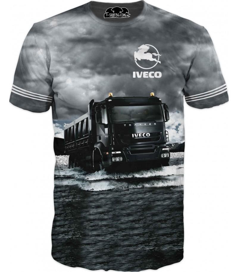Тениска с камион Ивеко - вода