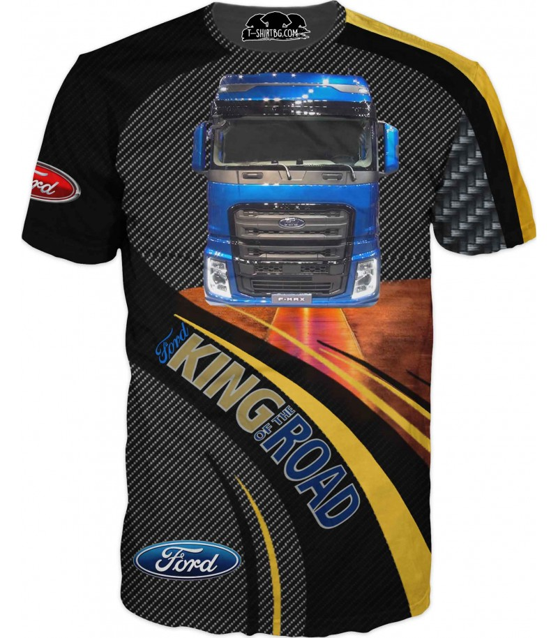 Тениска с камион ФОРД - карбон