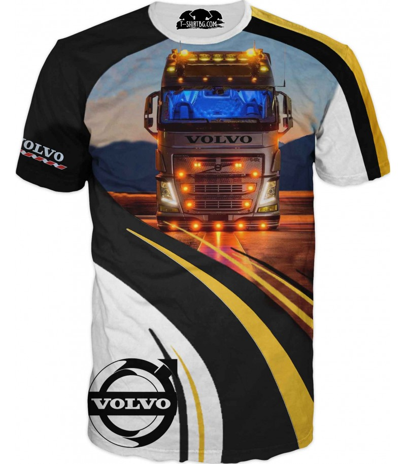 Тениска с камион Волво - на път