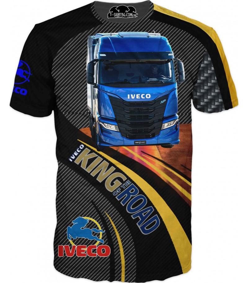 Тениска с камион Ивеко - карбон