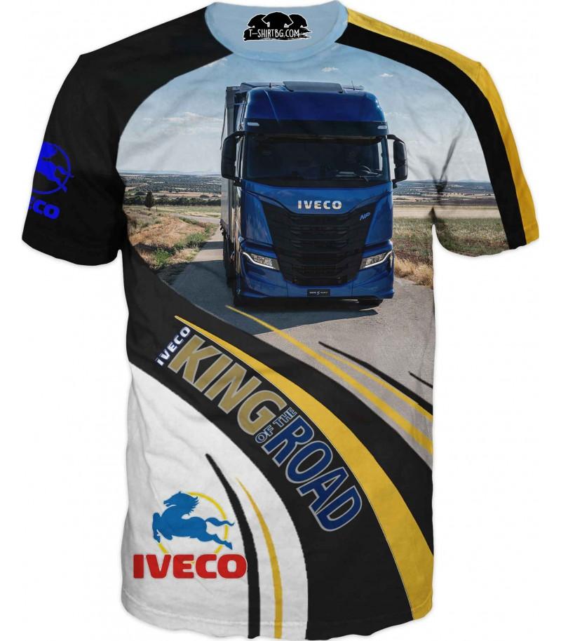Тениска с камион Ивеко - на път