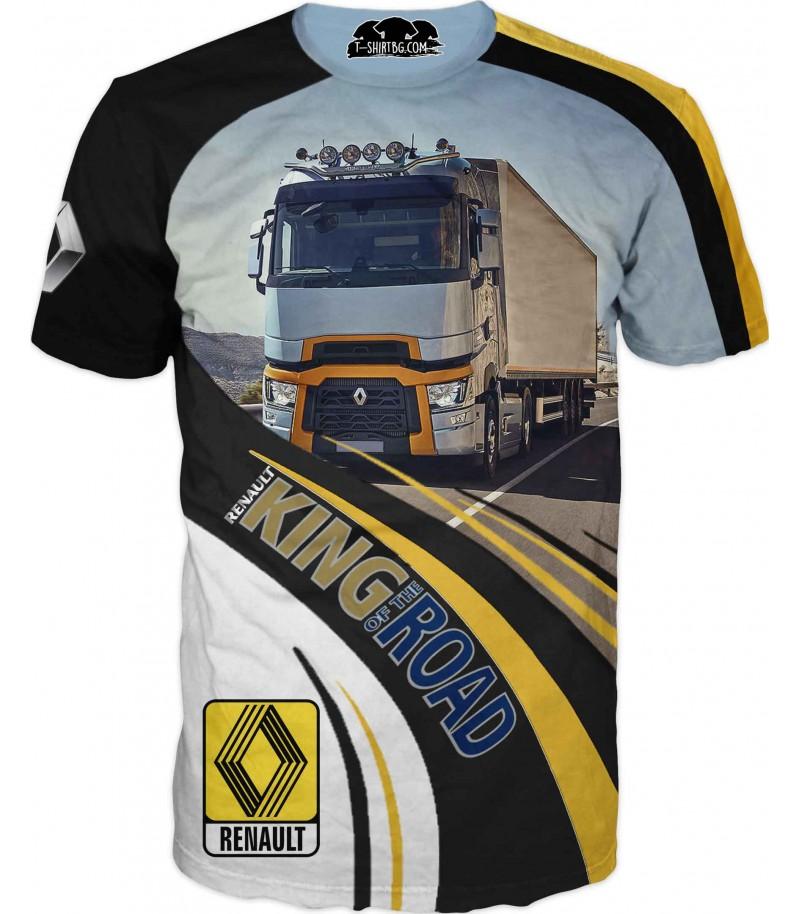 Тениска с камион Рено - на път