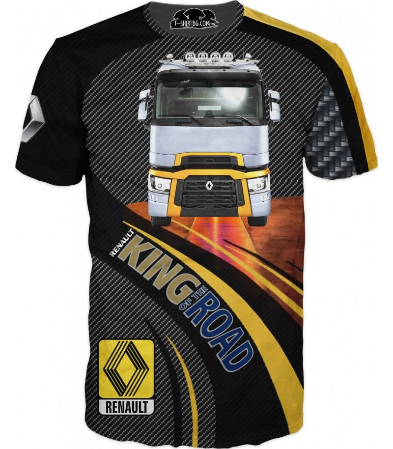 Тениска с камион Рено - карбон