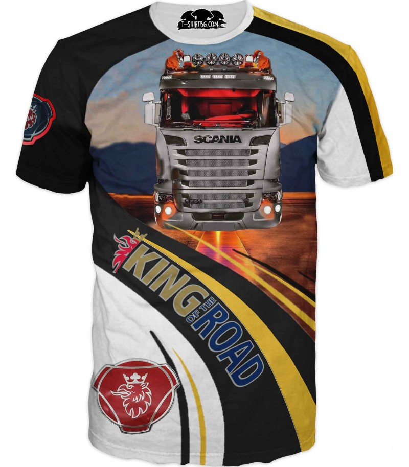 Фен тениска на камион Сканиа