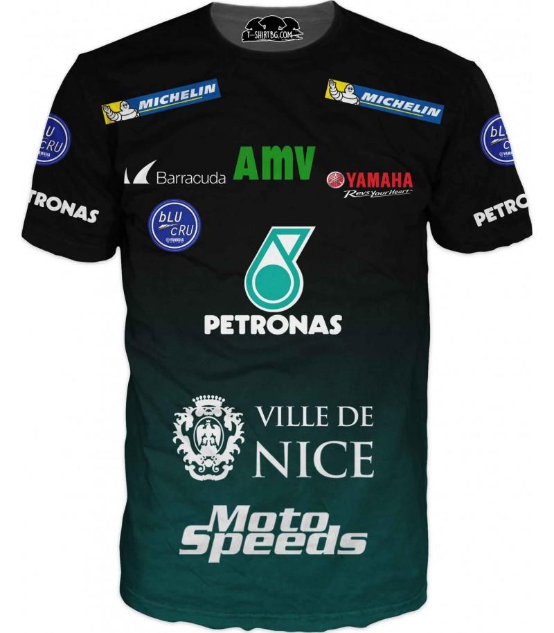 Тениска с емблеми на спонсори - Петронас