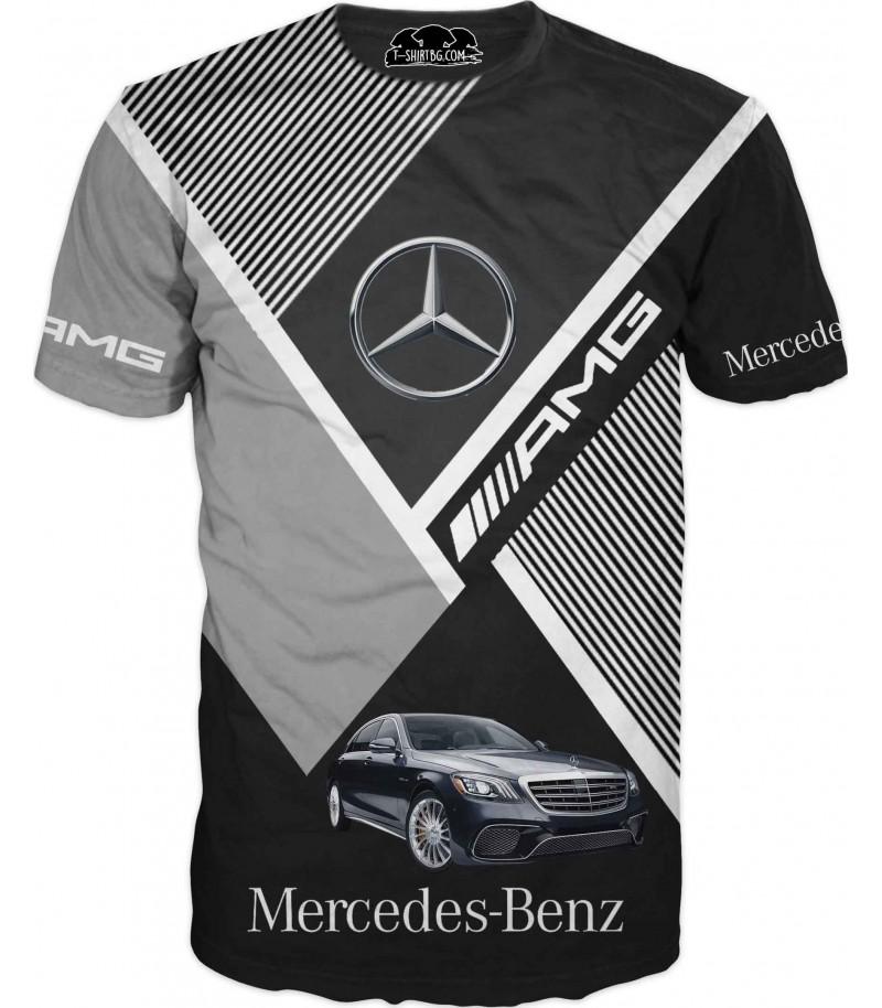 Автомобилна тениска с Мерцедес - Класика