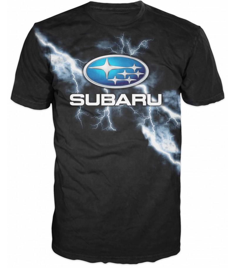 Мъжка тениска с надпис SUBARU