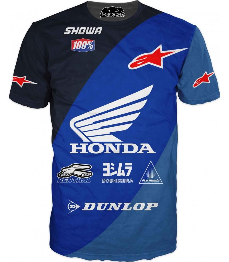 Състезателна автомобилна тениска с Хонда