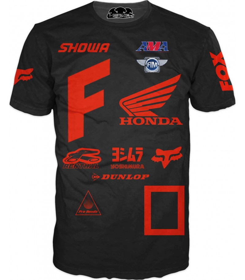 Тениска на състезател - Хонда в оранжево