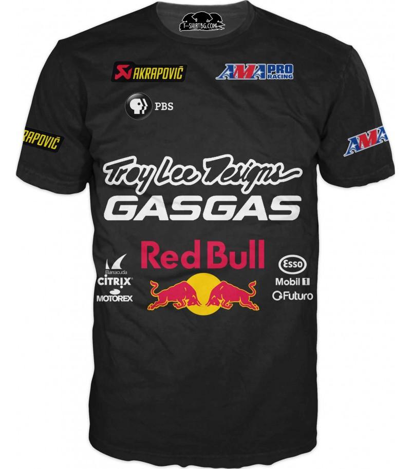 Автомобилна тениска за състезание - Ред Бул