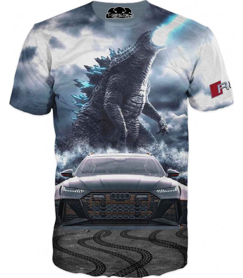 Астомобилна фен тениска на АУДИ с дракон