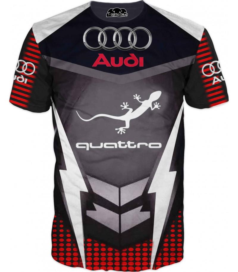 Автомобилна тениска - Ауди Куатро за ценители