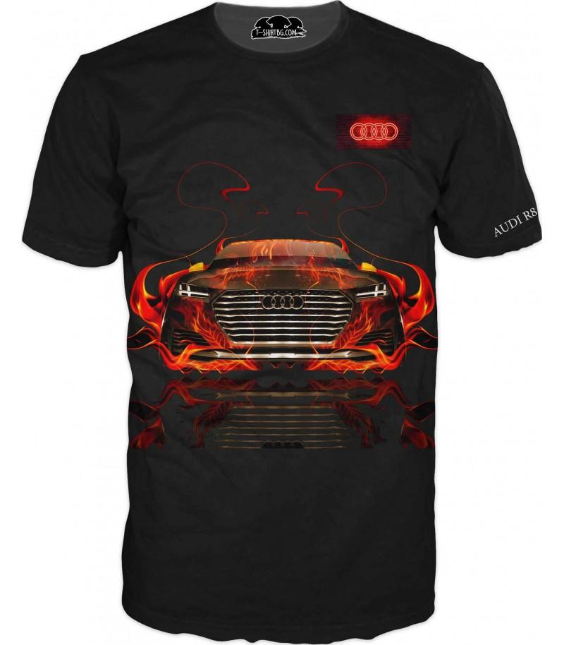 Автомобилна тениска с Ауди с атрактивно лого