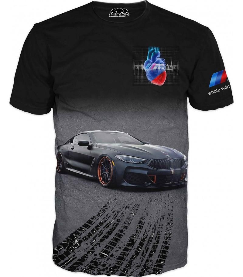 Тениска за любители на БМВ с уникална емблема