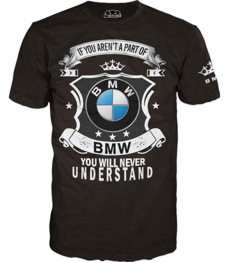 Уникална тениска с емблема на BMW