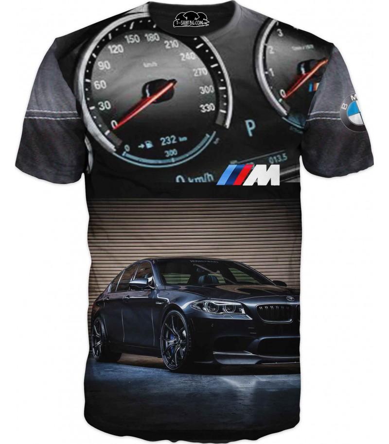 Автомобилна тениска - километраж на БМВ