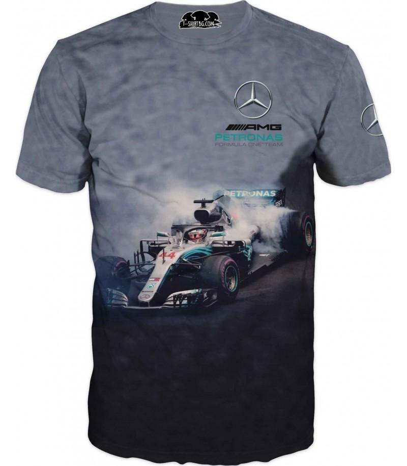 Тениска на състезателна кола - Мерцедес Петронас