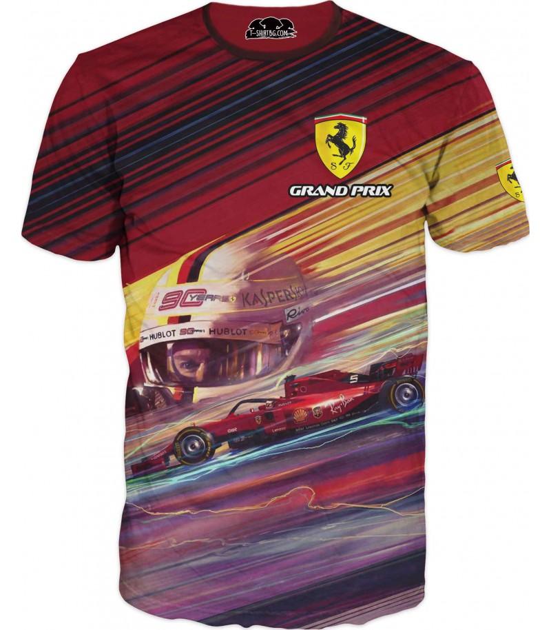 Автомобилна тениска на Ферари