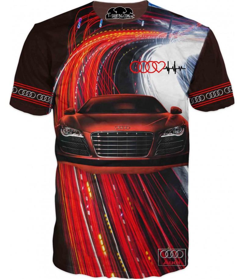 Любителска тениска на Ауди R8
