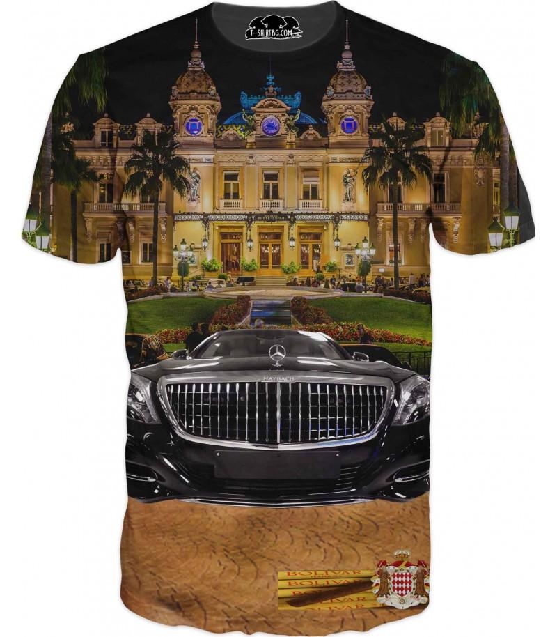 Тениска с Майбах и хавански пури и казино Монте Карло