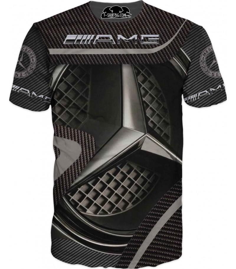 Автомобилна тениска на Емблема на Мерцедес с карбон