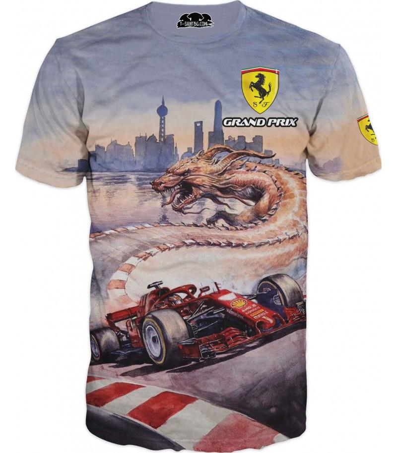 Автомобилна тениска с Ферари - Шанхай