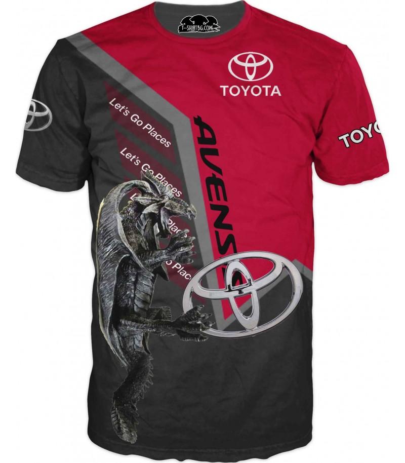 Автомобилна тениска за фенове на Тойота