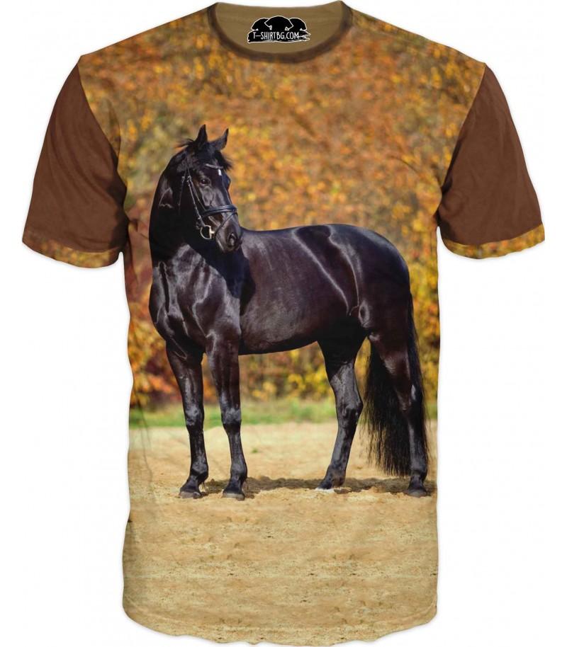 Тениска - кон - Мустанг