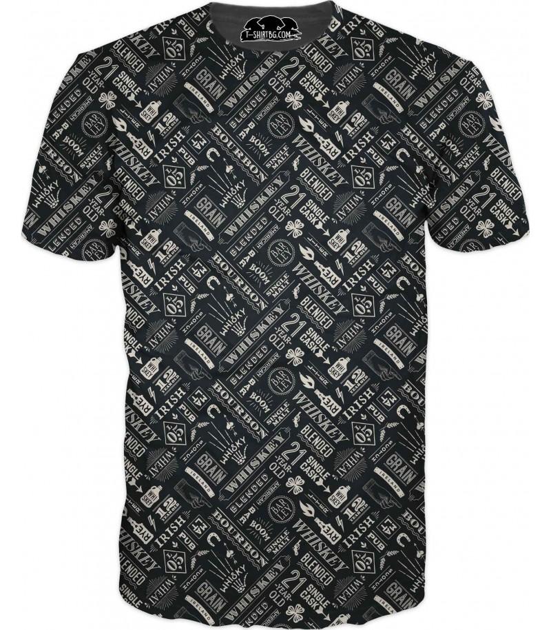 Тениска с уиски - украса