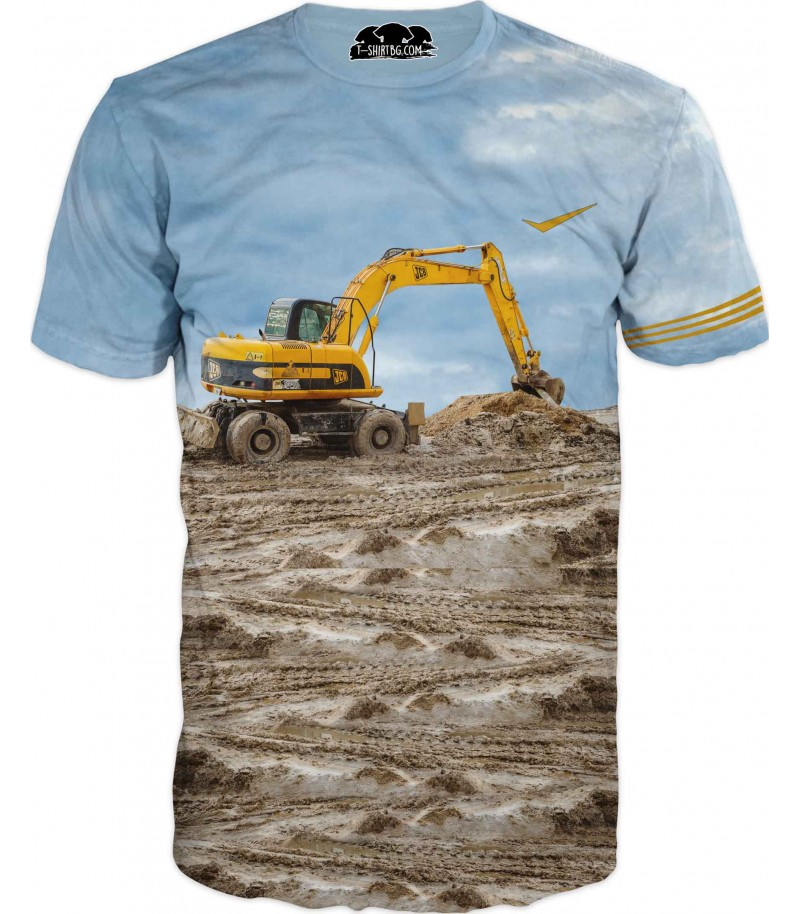 Тениска с жълт багер