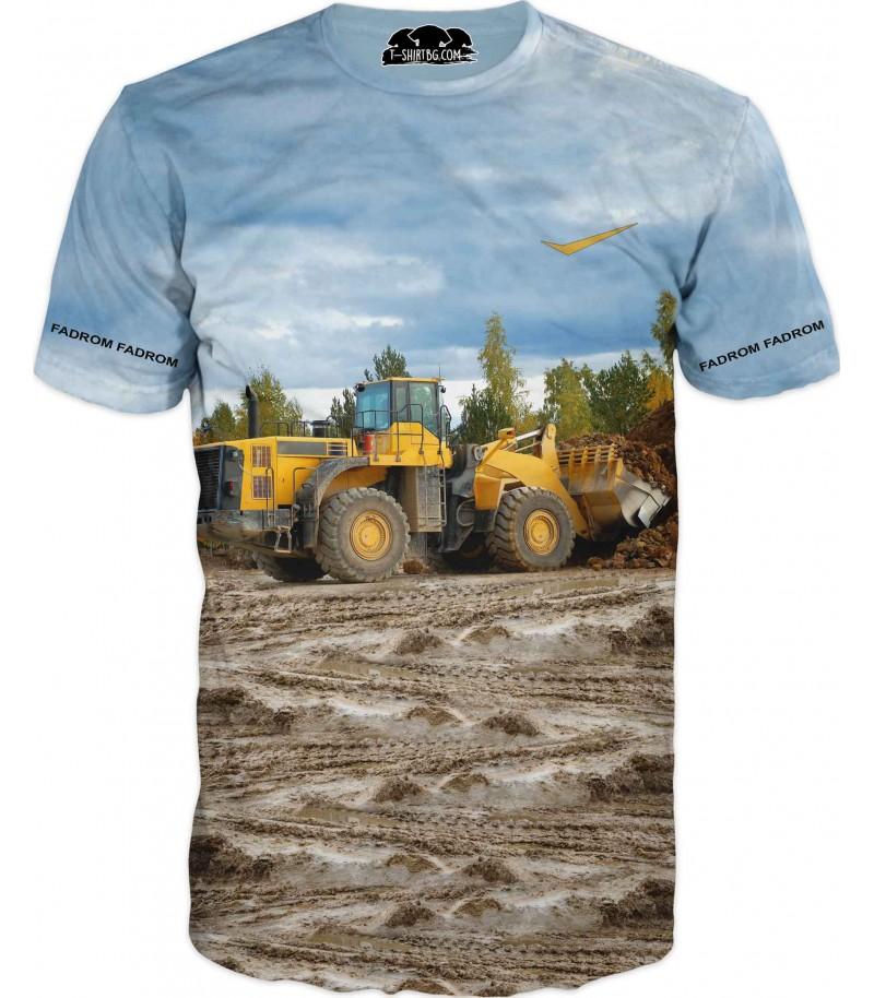 Тениска с жълт Фадром