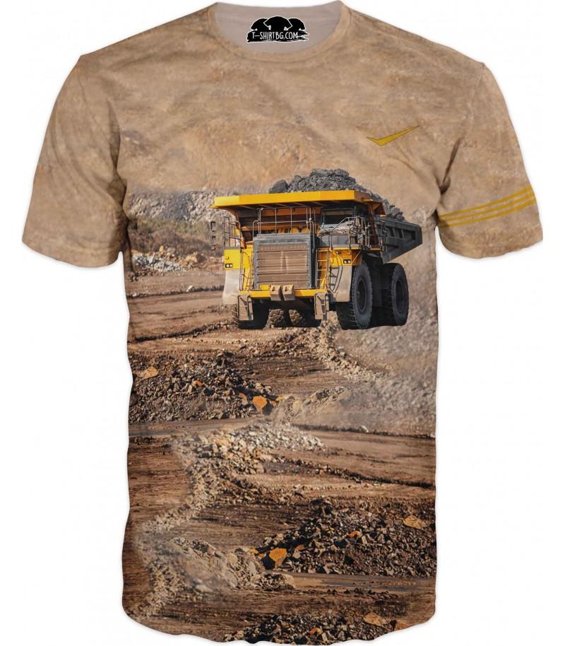Тениска с тежкотоварен камион