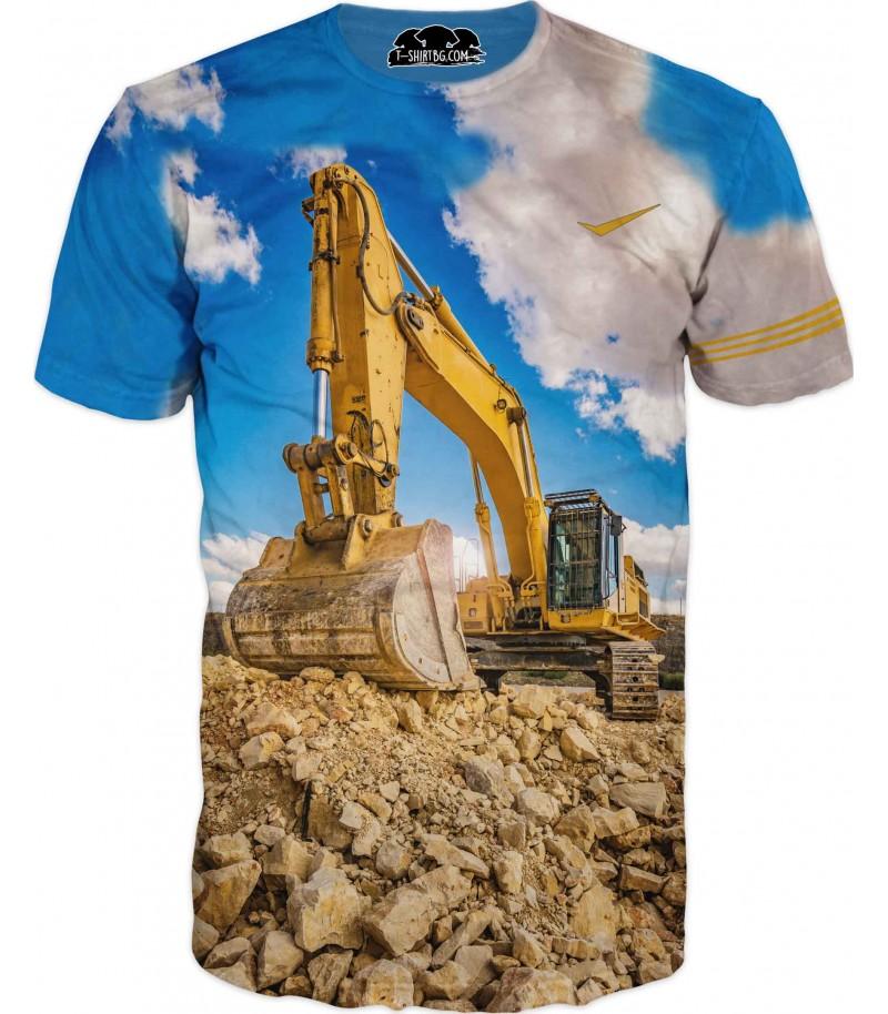Тениска с голям багер