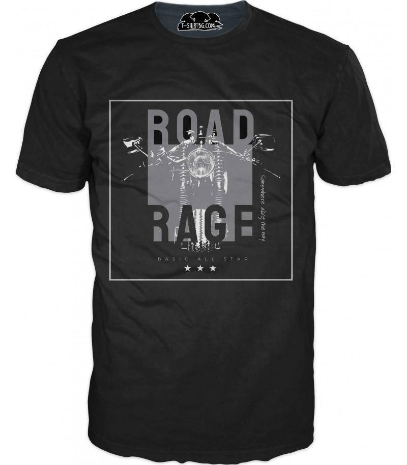 Тениска с арт мотор - сив