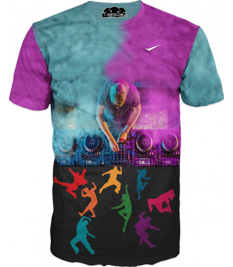 Забавна тениска с дисководещ