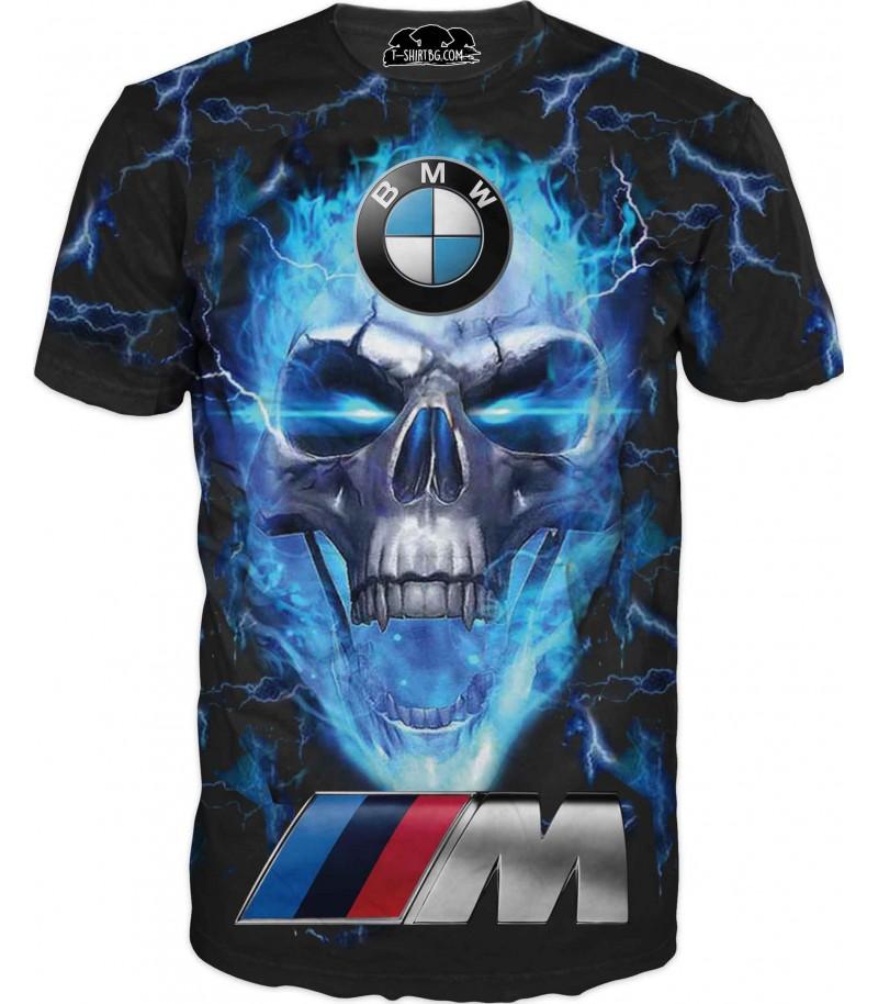 Тениска с лого на БМВ - череп