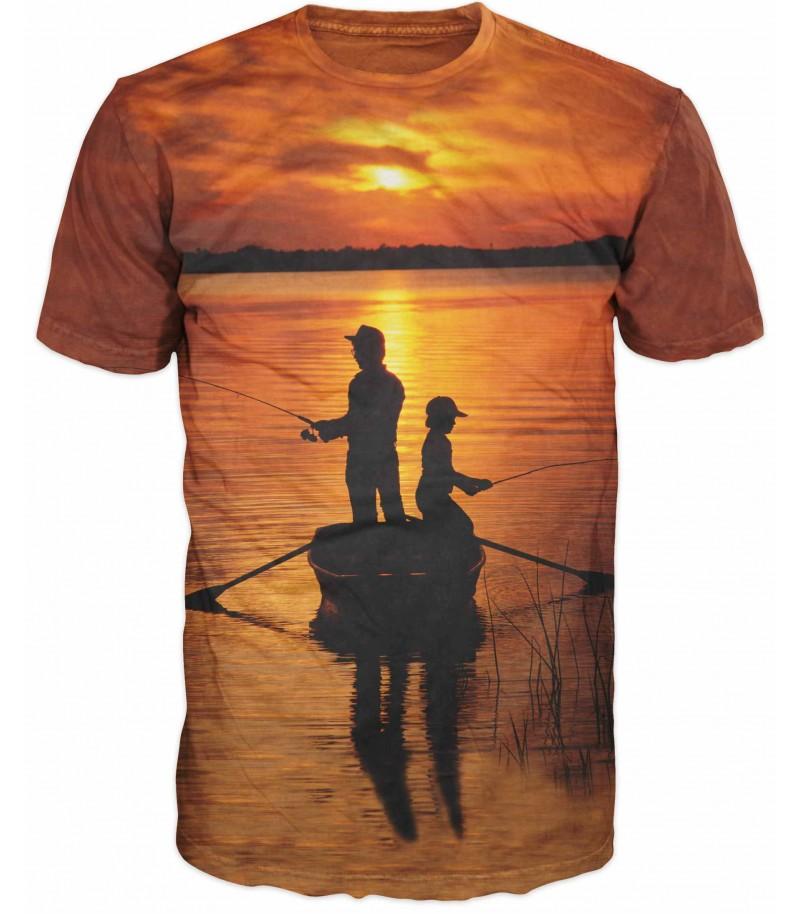 Риболовна тениска с рибари