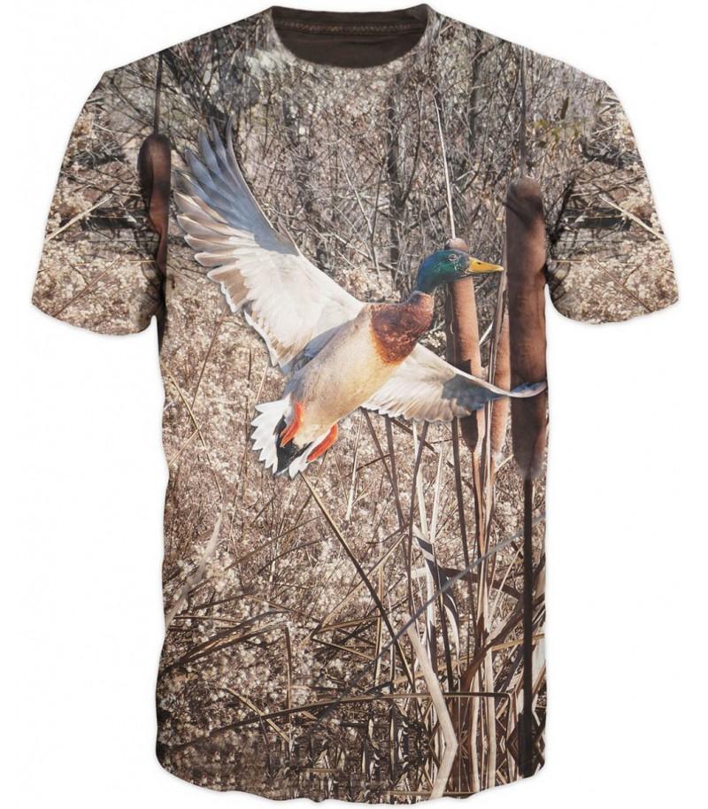 Ловна тениска с пернат дивеч