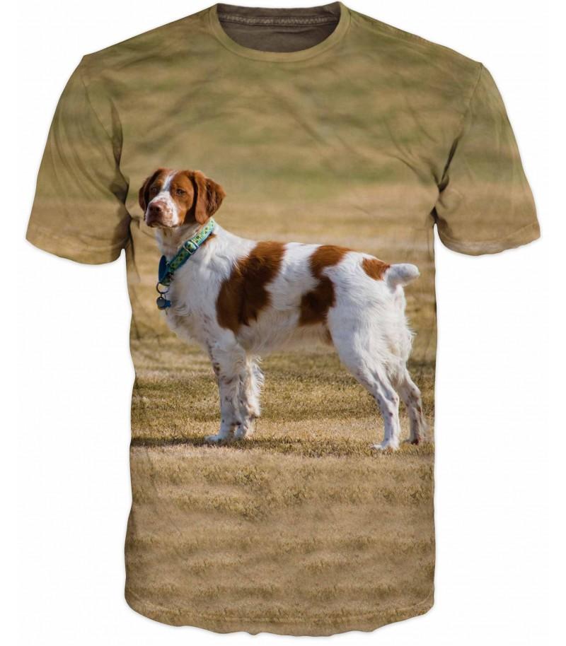Ловна тениска с Бретонски шпаньол