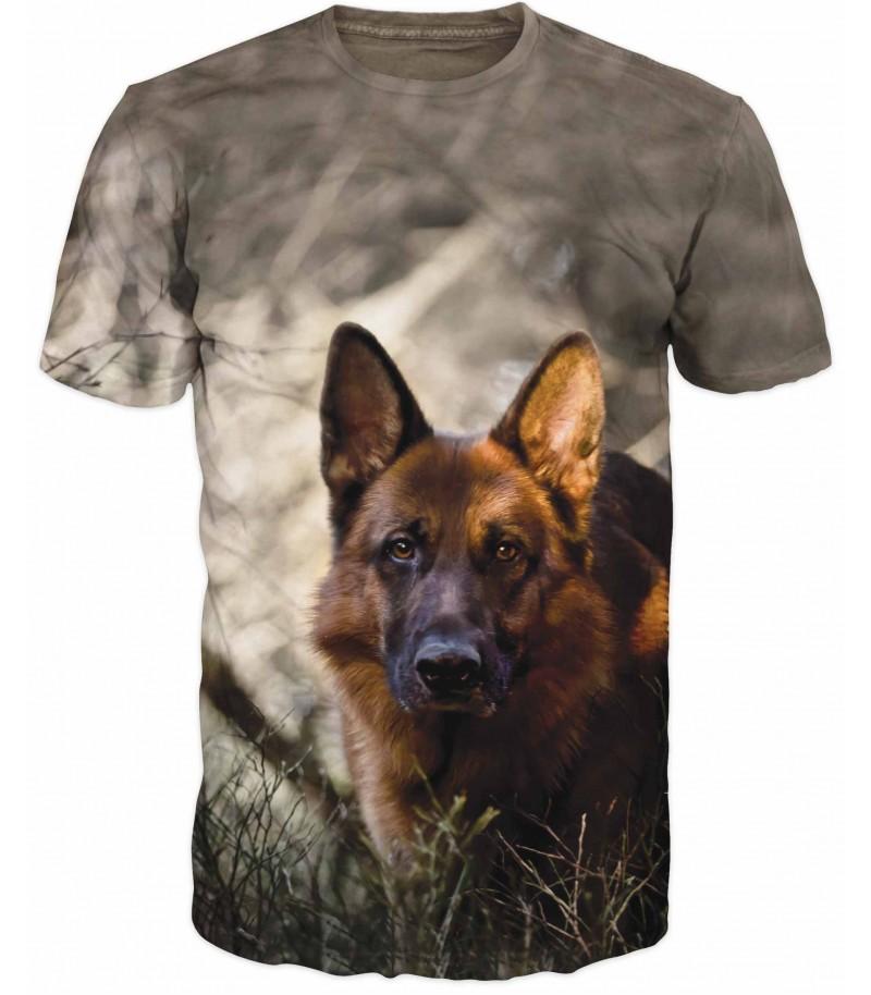 Ловна тениска немска овчарка