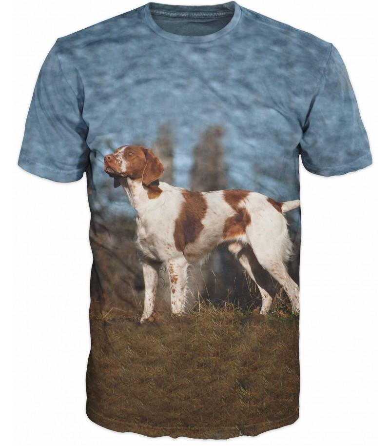 Ловна тениска с Бретон шпаньол