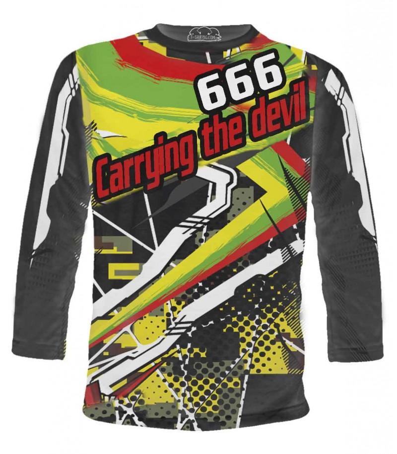 Тениска на моториста с дяволското число