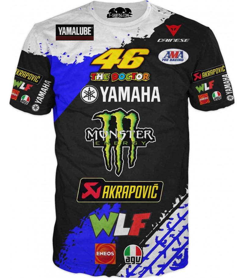 Моторна състезателна тениска на Ямаха