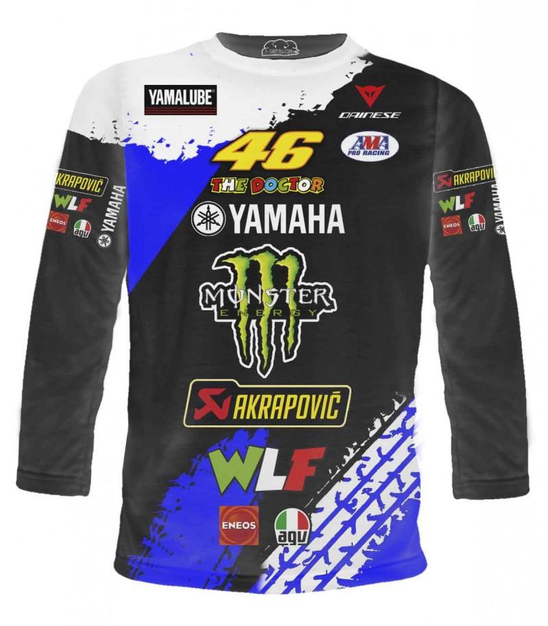 Моторна състезателна тениска на Ямаха - дълги ръкави