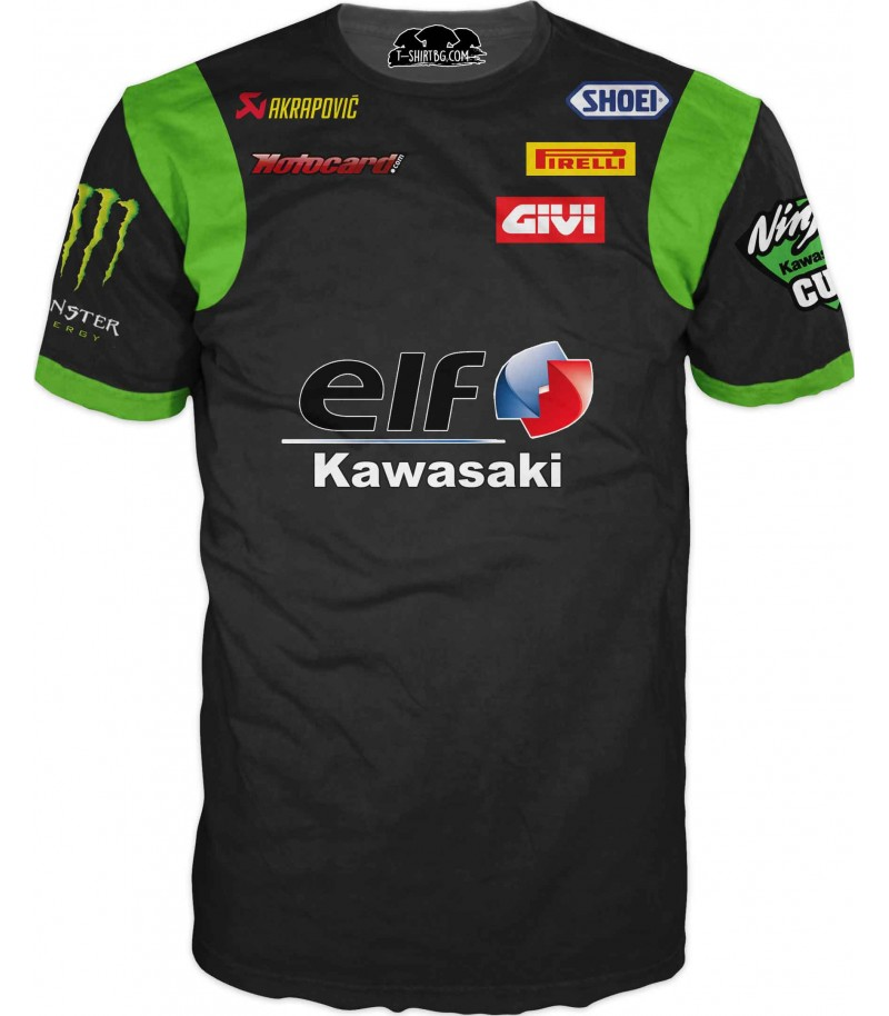 Състезателна тениска - Кавазаки и спонсори